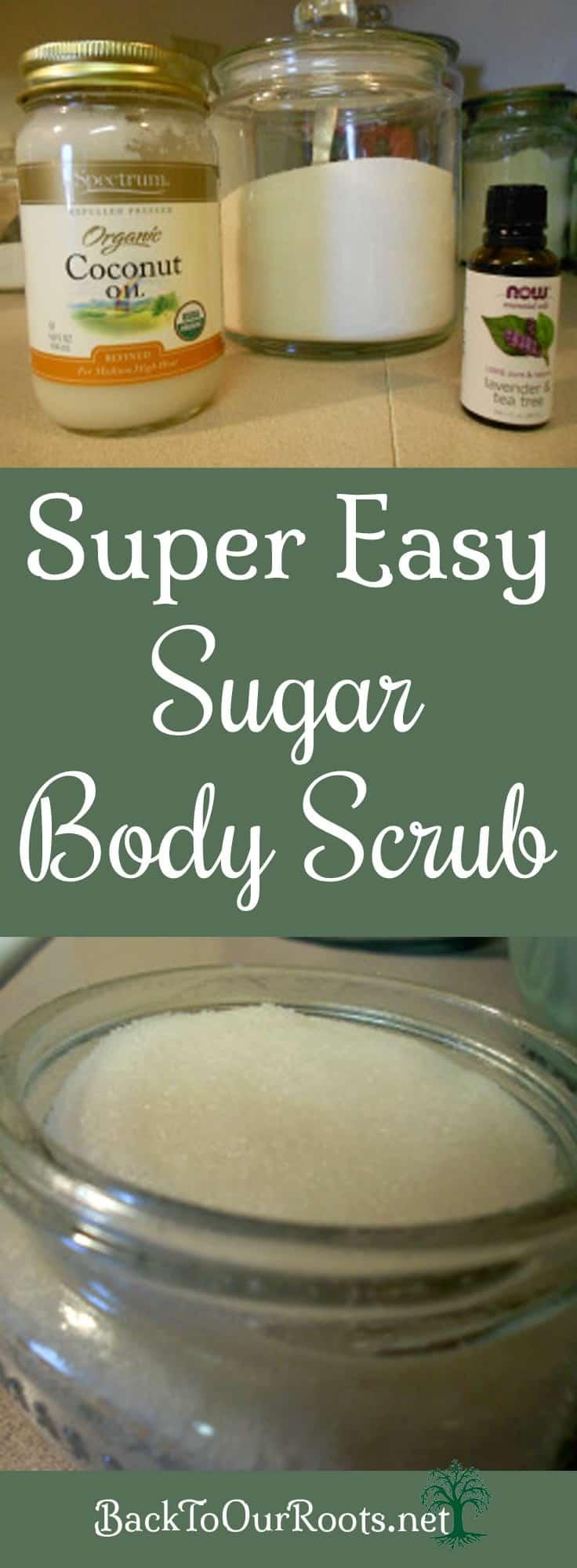 Super Easy Sugar Body Scrub