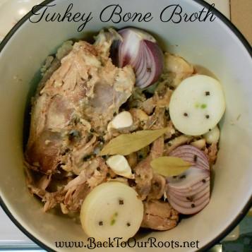 Turkey bone broth