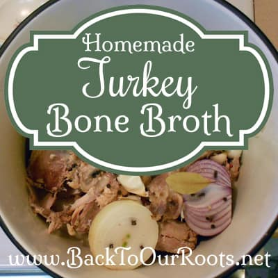 Homemade Turkey Bone Broth