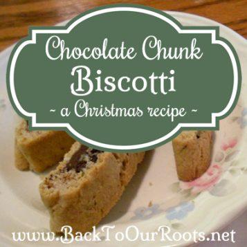Homemade Biscotti Cookie Recipe