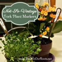 Not-So-Vintage DIY Fork Plant Markers