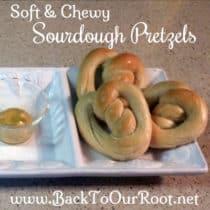 Soft & Chewy Baked Sourdough Pretzels