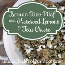Brown Rice Pilaf with Preserved Lemons and Feta Cheese