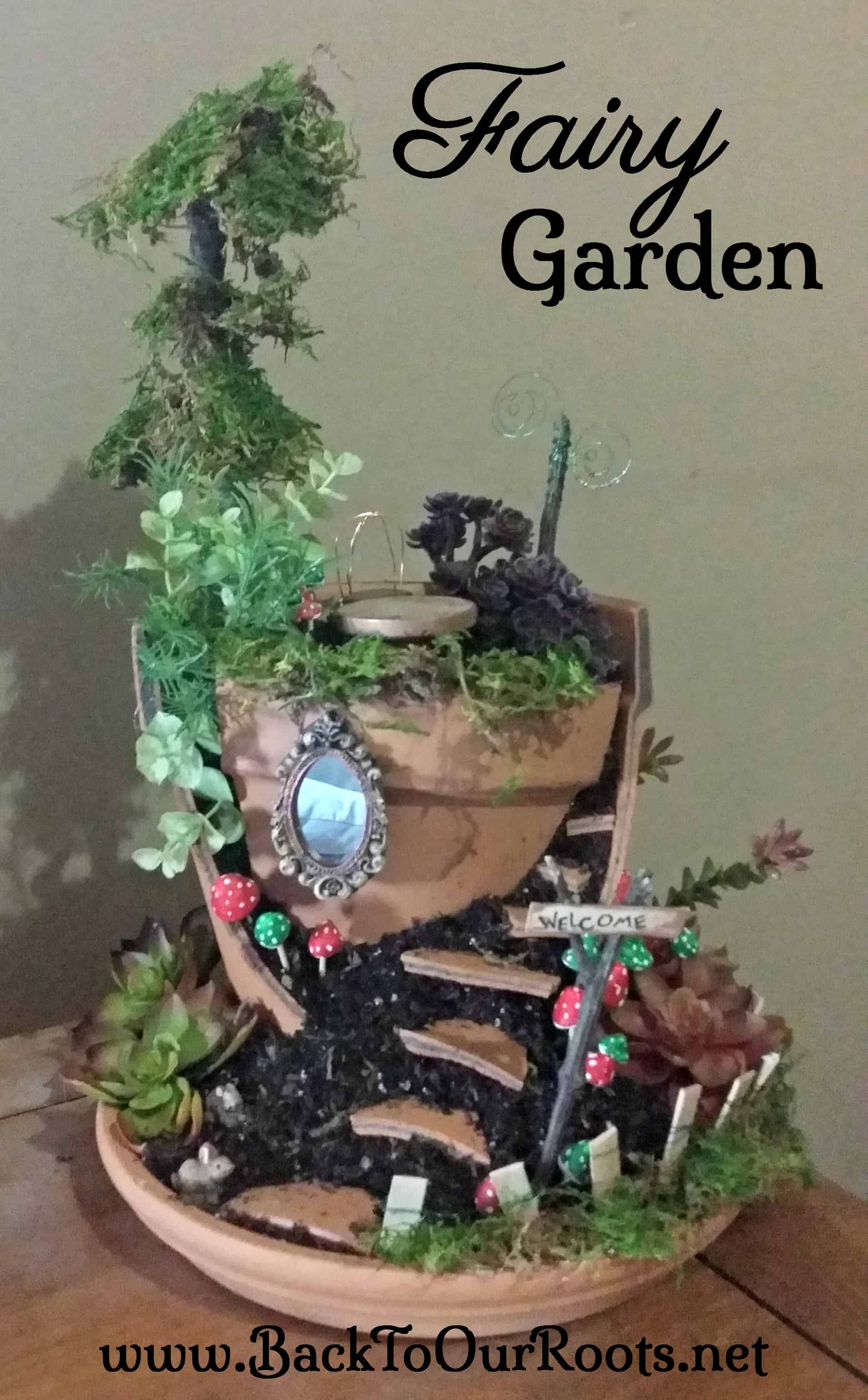 How to make your very own fairy garden back to our roots for Create your garden