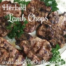 The Most Succulent Herbed Lamb Chops From the Grill