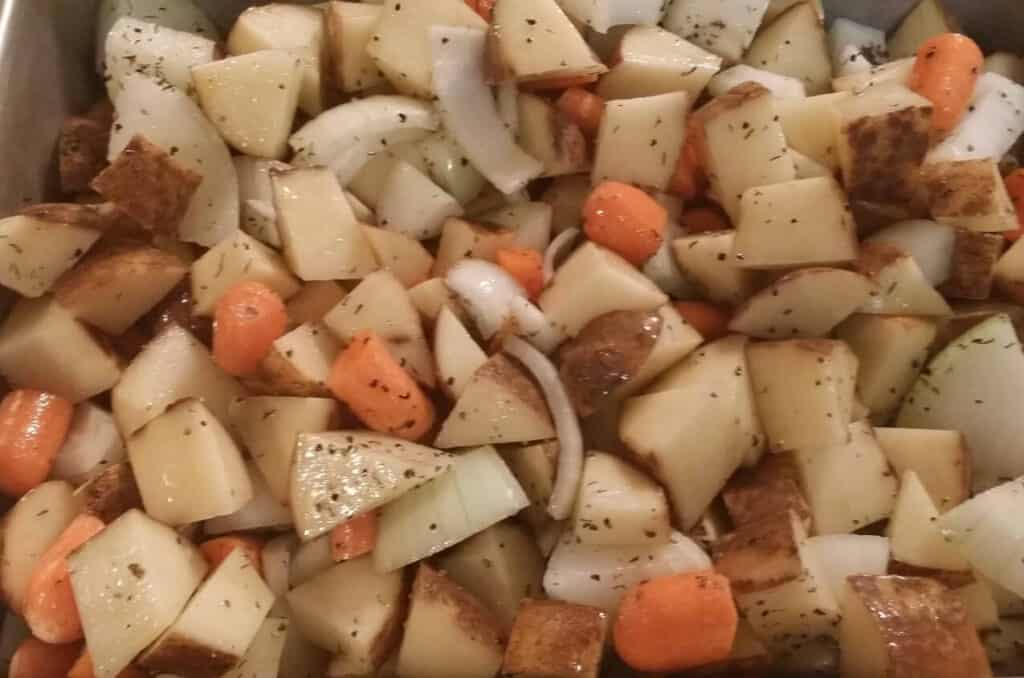 veggies with thyme