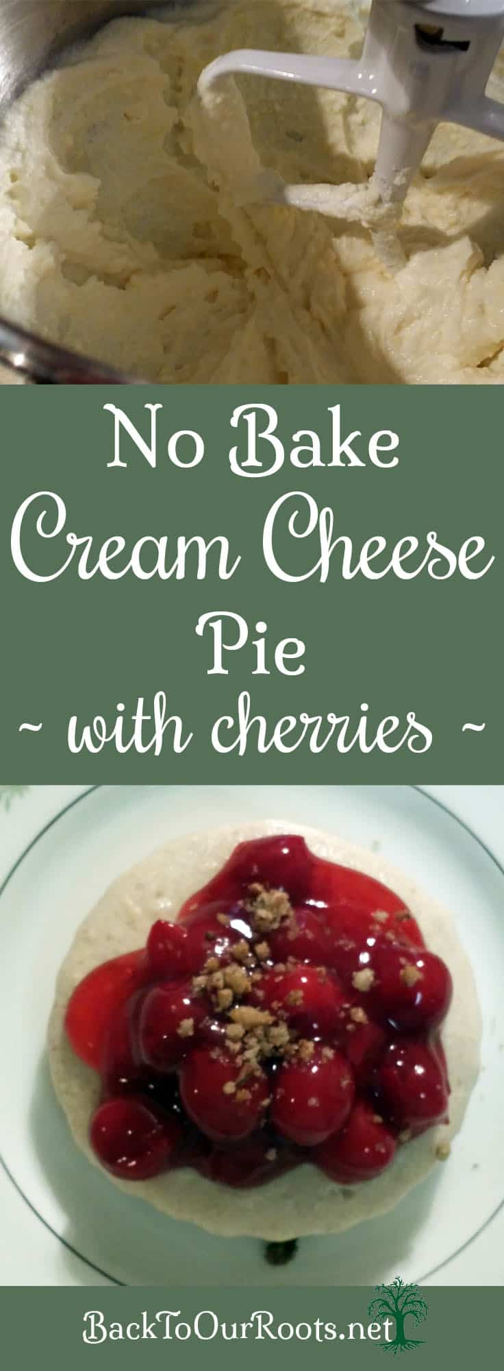 No Bake Cherry Cream Cheese Pie
