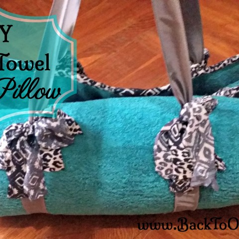 finished beach towel with pillow
