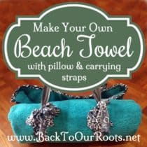 DIY Beach Towel with Pillow & Carrying Straps