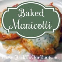 Rich & Cheesy Baked Manicotti ~ The Perfect Comfort Food
