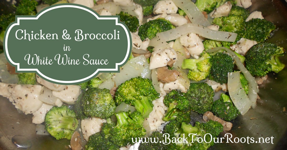 Chicken & Broccoli in White Wine Sauce