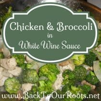 Chicken and Broccoli in White Wine Sauce