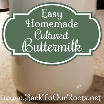 Easy Homemade Cultured Buttermilk