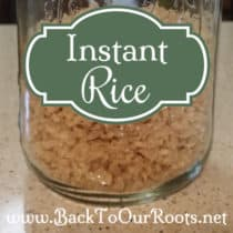 Organic Instant Rice ~ How To Make It Yourself