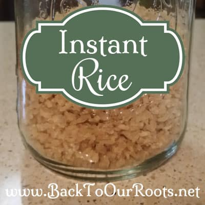 Instant Rice ~ How To Make It Yourself