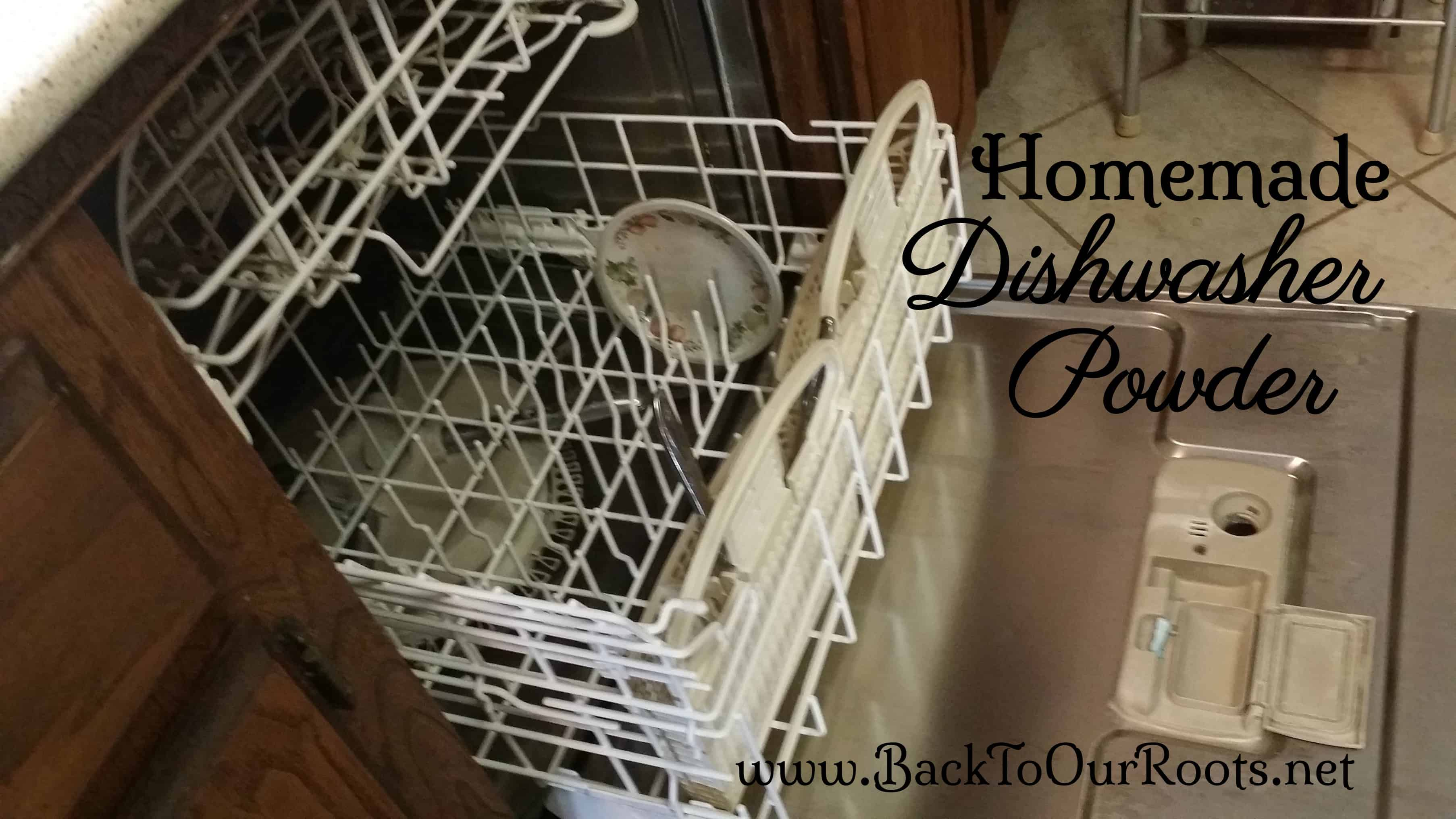 Homemade Dishwasher Powder