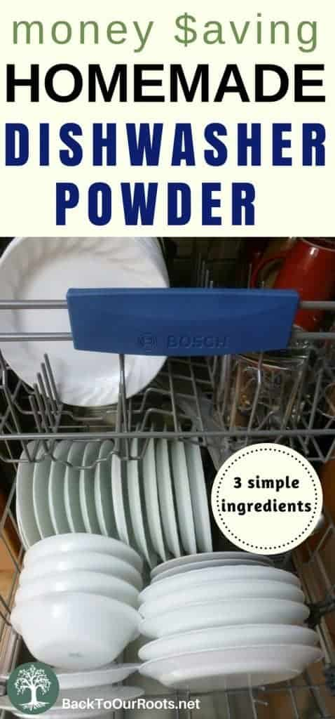 Homemade Frugal Dishwasher Powder