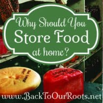 Why Should You Store Food At Home