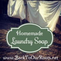 Frugal, Natural, Homemade Laundry Soap