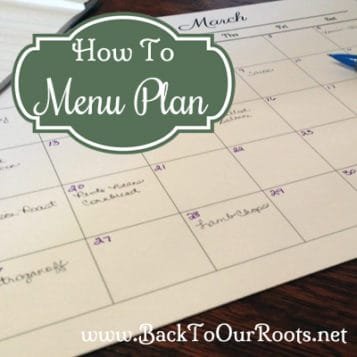 Menu Planning ~ What it is & How to do it