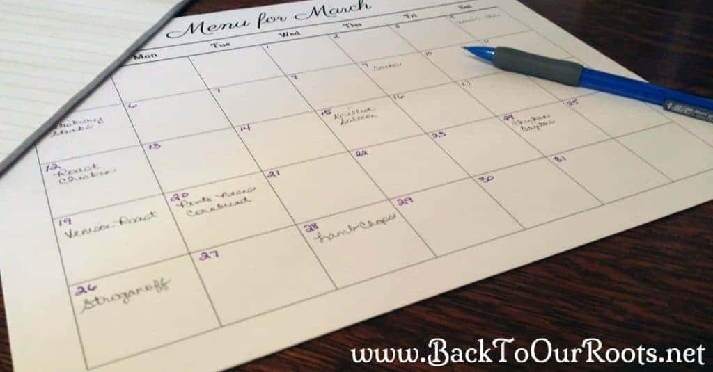 Menu Planning~What it Is & How to do It