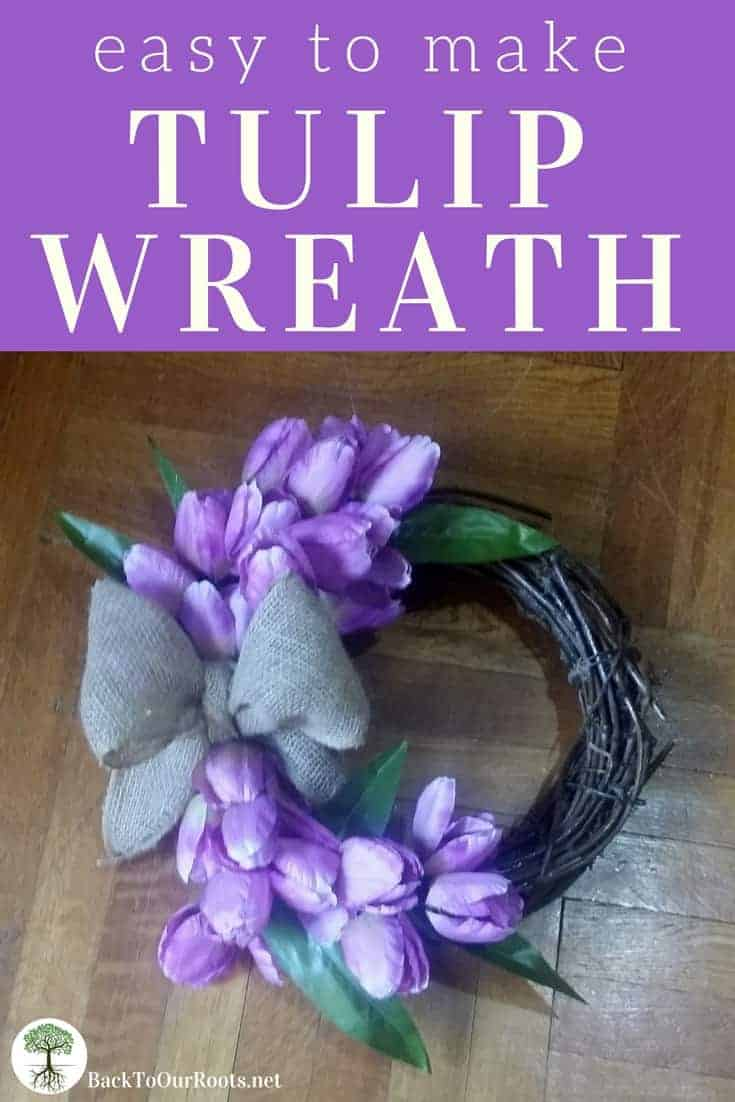 EASY TO MAKE TULIP WREATH: This wreath is quick to make and so easy you'll be making them for all your friends. Make one today!