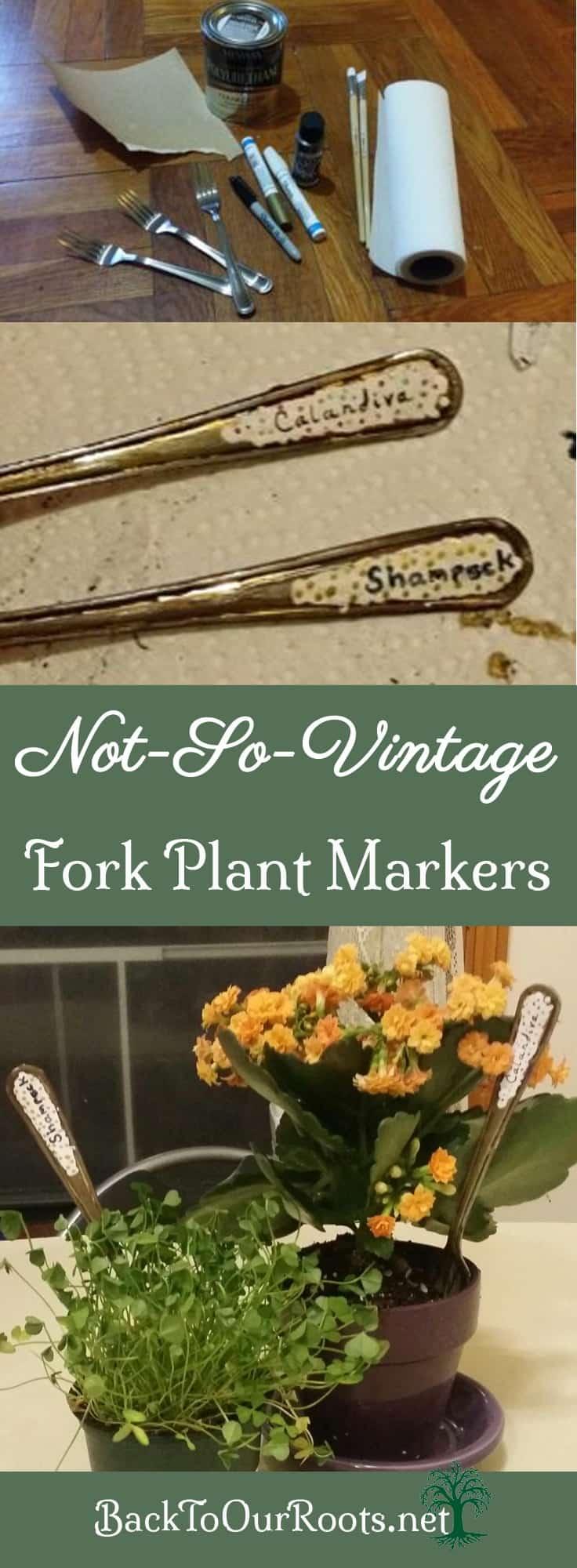 DIY Fork Plant Markers