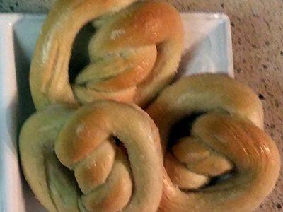 Soft Baked Sourdough Pretzels