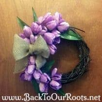 How to Make a Quick & Easy Spring Tulip Wreath