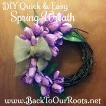DIY Quick & Easy Spring Tulip Wreath