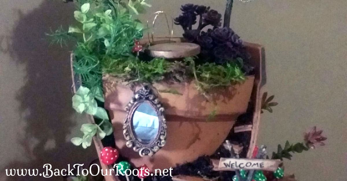 How to Make Your Very Own Fairy Garden Back to Our Roots