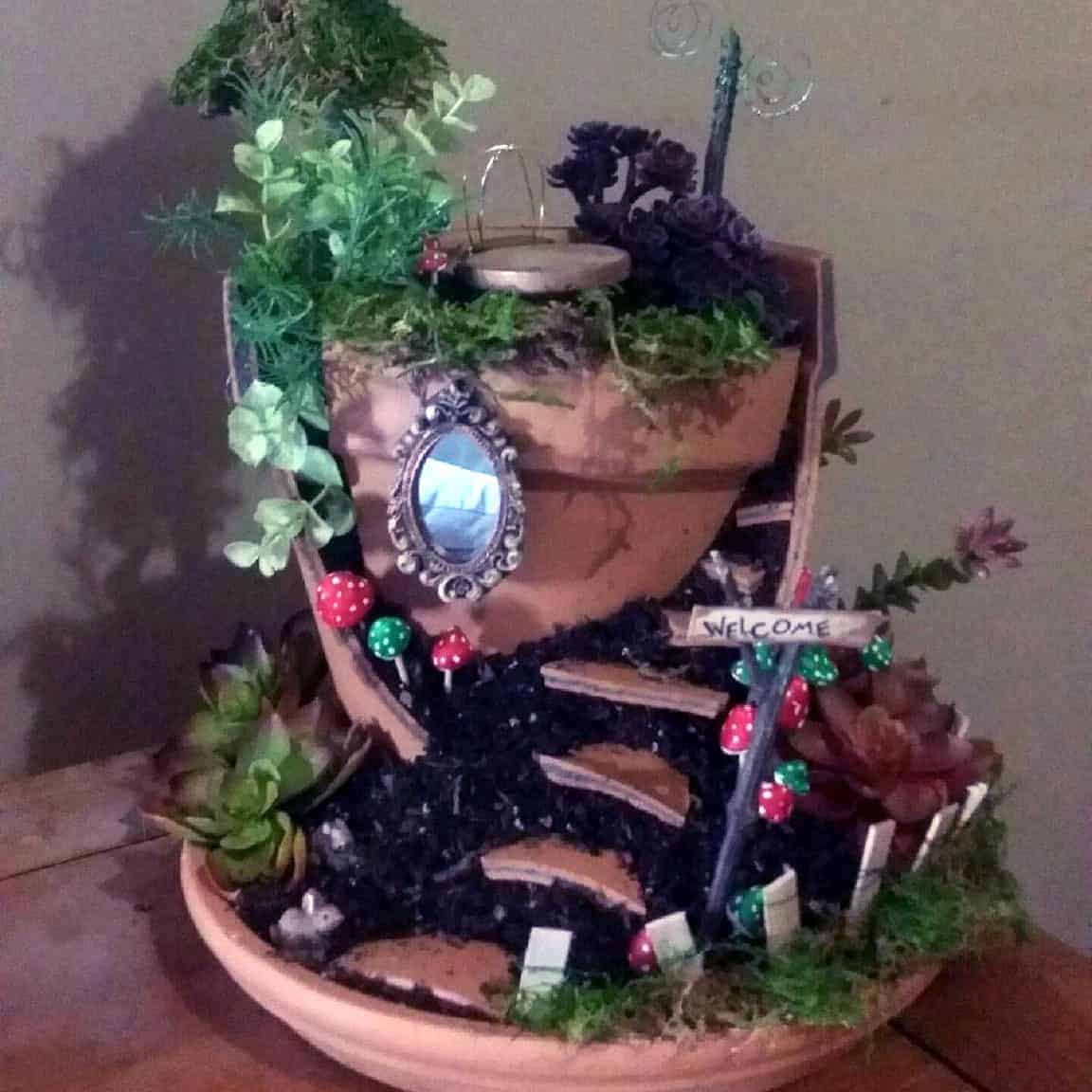 How To Make A Two Story Living Room Cozy: How To Make Your Very Own Fairy Garden