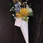 May Day Posie hanging from door handle