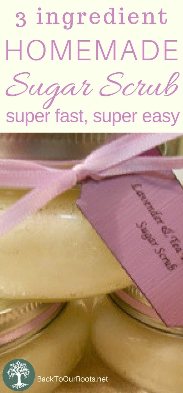 Super Easy, 3 ingredient, Sugar Body Scrub