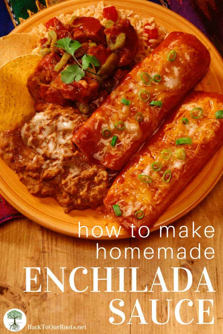 HOMEMADE ENCHILADA SAUCE TO CAN OR FREEZE: This homemade enchilada sauce is great for either freezing or canning, and the fire-factor is whatever level you want it to be from hardly there to call 911. Includes canning instructions.