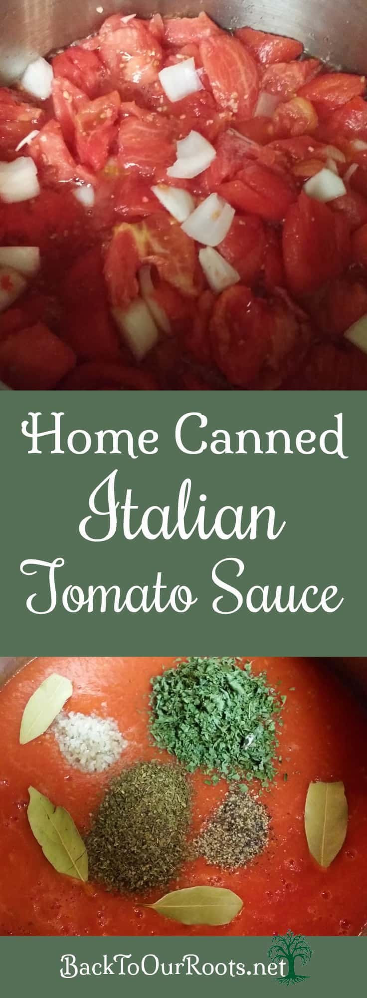 Italian Herbed Tomato Sauce for Canning