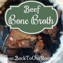 Nourishing Beef Bone Broth to Freeze or Can