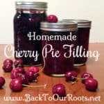 Homemade Cherry Pie Filling for Canning