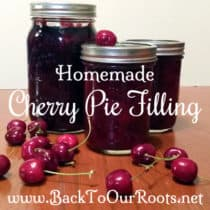 Homemade Cherry Pie Filling ~ A Canning Recipe
