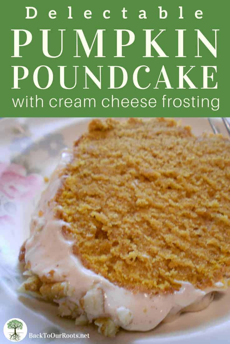 PUMPKIN POUNDCAKE WITH CINNAMON CREAM CHEESE FROSTING: Pumpkin is always a favorite fall dessert! Pair it with tangy cream cheese and fall spices for the perfect snack.