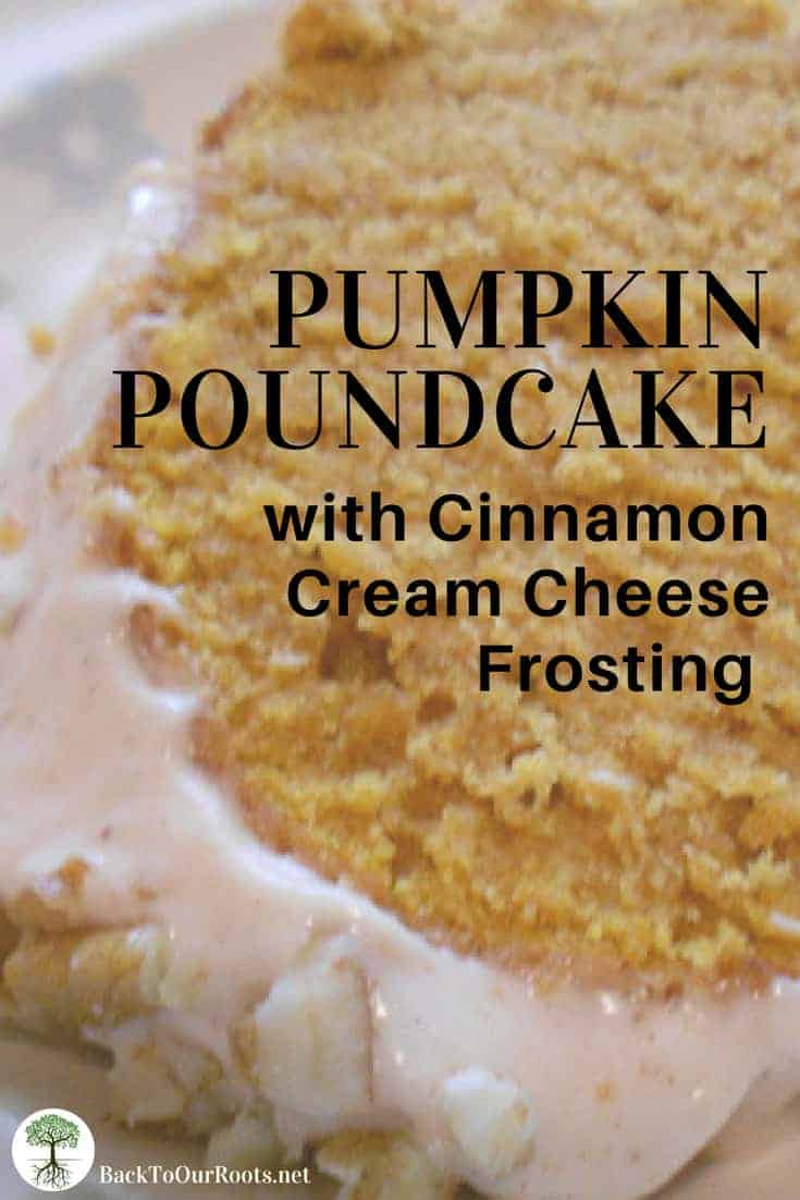 Pumpkin Poundcake with Cream Cheese Frosting
