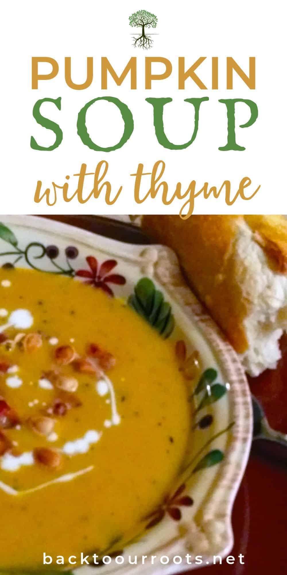 Savory Pumpkin Thyme Soup