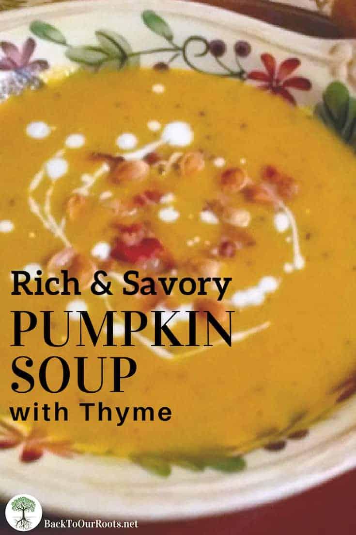 Pumpkin~Thyme Soup