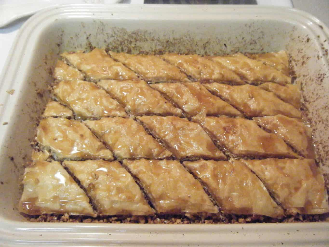 finished homemade Baklava
