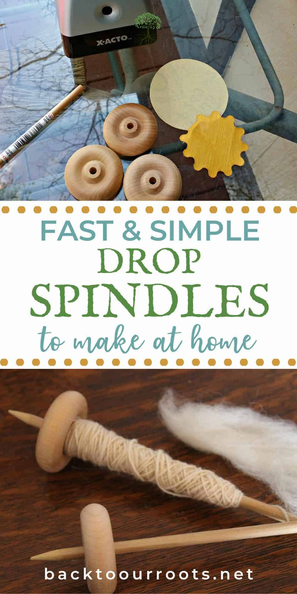 Supplies needed to make DIY drop spindles