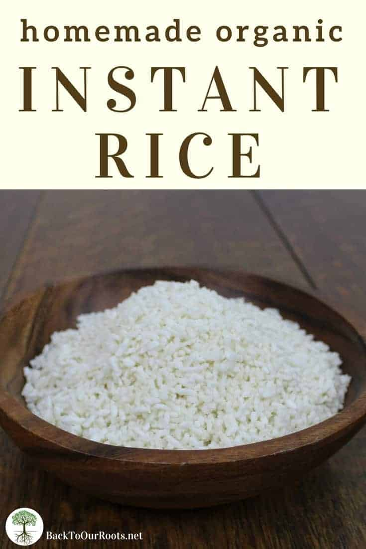 HOMEMADE ORGANIC INSTANT RICE: I love instant rice! But the organic instant rice from the store is so expensive. So I decided to make my own and save some money! Super simple way to cut the grocery budget!
