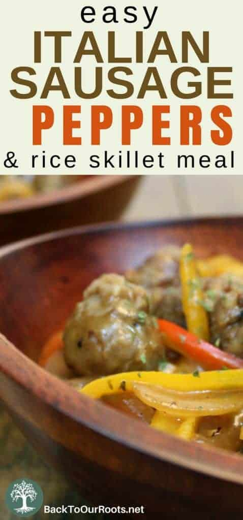 Easy Italian Sausage, Peppers, and Rice ~ Family Approved
