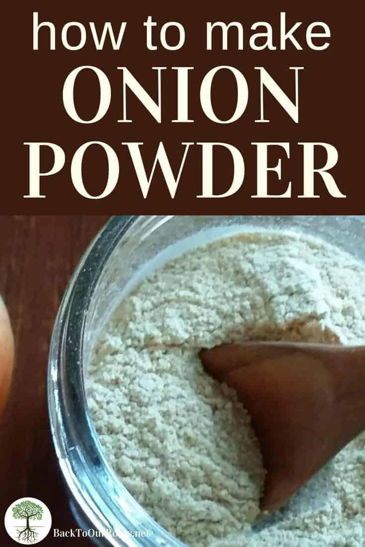 EASY HOMEMADE ONION POWDER: There's no reason to throw out those onions! Make your own onion powder before they go bad.