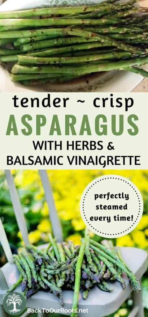 Perfectly Steamed Asparagus with Balsamic Vinaigrette