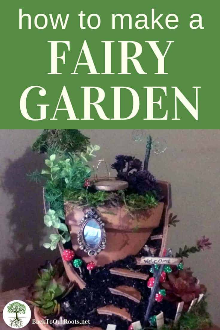 HOW TO MAKE A FAIRY GARDEN: A DIY Fairy Garden is a fun craft for the whole family! Cut the pot, arrange the shards, add all the stuff. Easy Peasy!